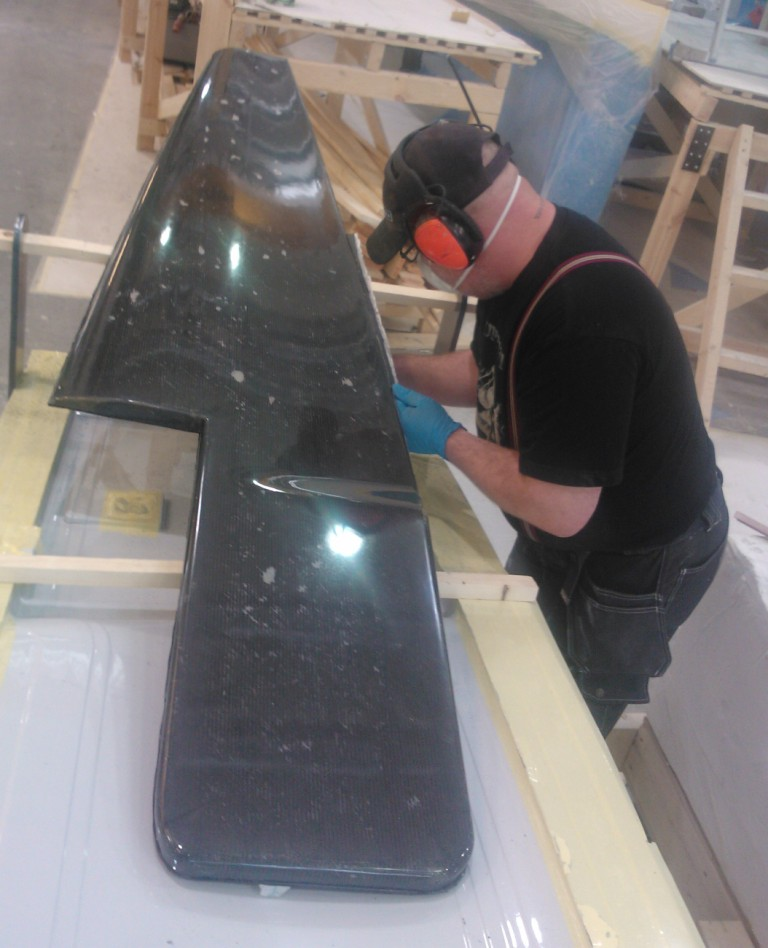 Rudder carbon